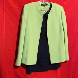 Three piece lined skirt suit